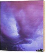 Late Night Nebraska Shelf Cloud 001 Wood Print