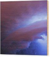 Late Night Nebraska Shelf Cloud 004 Wood Print
