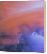 Late Night Nebraska Shelf Cloud 008 Wood Print