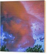Late Night Nebraska Shelf Cloud 010 Wood Print