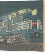 Late Night On The New York Central Wood Print