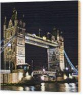Late Night Tower Bridge Wood Print by Elena Elisseeva
