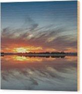 Late November Reflections Wood Print