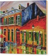 Late On Bourbon Street Wood Print