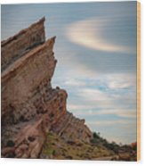 Late On Vasquez Rocks By Mike-hope Wood Print