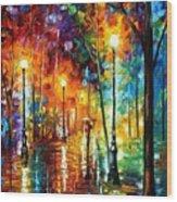 Late Stroll Wood Print