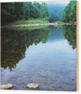 Late Summer At The Baptizing Hole Wood Print