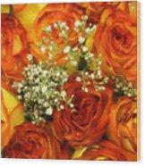 Late Summer Roses Wood Print