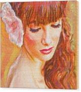 Latina Beauty Wood Print