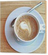 Latte Coffee Drink Wood Print