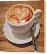 Latte Love Wood Print