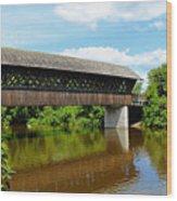 Lattice Covered Bridge Wood Print