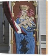 Latvia, Riga, Virgin Mary And Jesus Wood Print