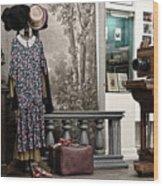 Latvian Photo Studio In The Beginning Of The 20th Century Wood Print