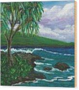 Lau Halas In Hilo Wood Print