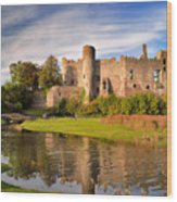Laugharne Castle 1 Wood Print