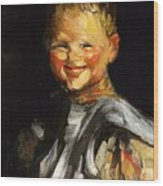 Laughing Child 1907 Wood Print