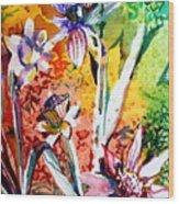 Laughing Flowers Wood Print