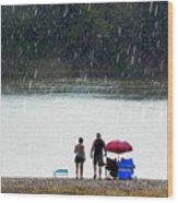#171 Laughter In The Rain Wood Print