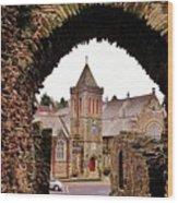 Launceston Castle South Gatehouse Wood Print