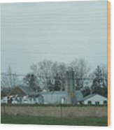 Laundry Day At The Dairy Farm Wood Print