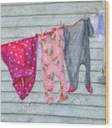 Laundry Day Wood Print