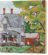 Laundry Day Wood Print by Linda Marcille