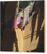 Laundry In The Sun In Venice Wood Print