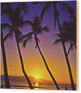 Launiupoko Sunset Wood Print