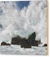 Laupahoehoe Point Explosion Wood Print