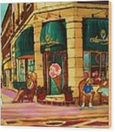 Laura Secord Candy And Cone Shop Wood Print