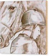 Laura's Horse Wood Print