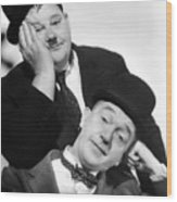 Laurel And Hardy, 1939 Wood Print