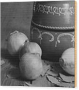 Laurel And Onions Wood Print