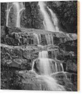 Laurel Falls B And W 2 Wood Print