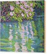 Laurel Reflection Wood Print