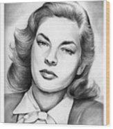 Lauren Bacall Wood Print