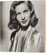 Lauren Bacall, Vintage Actress Wood Print