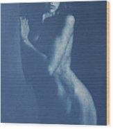Lauren In Blue Wood Print
