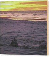 Lauren's Sandcastle Wood Print