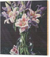 Laurette' Lillies Wood Print