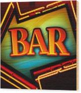 Laurettes Bar Wood Print