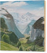Lauterbrunnen Valley Switzerland Wood Print