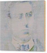 Lautreamont - Watercolor Portrait.3 Wood Print