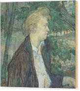 lautrec gabrielle 1891 Henri De Toulouse-Lautrec Wood Print