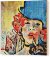 Lautrec Homage Wood Print