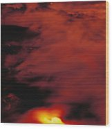Lava At Dawn Wood Print
