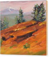 Lava Butte Wood Print