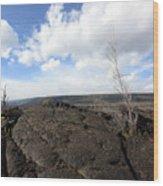 Lava Field Wood Print