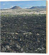 Lava Flow And Schonchin Butte, Lava Beds Nm, California, Usa Wood Print